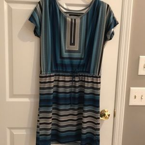 Prana blue stripe beach dress coverup Small